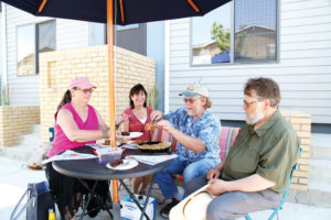 Ralston Creek Cohousing gather for pie
