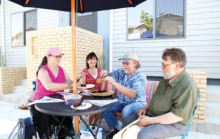 Ralston Creek Cohousing gather for pie