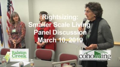 Rightsizing Panel in March, 2019