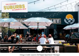 Image of an outdoor bar and grill in Arvada.