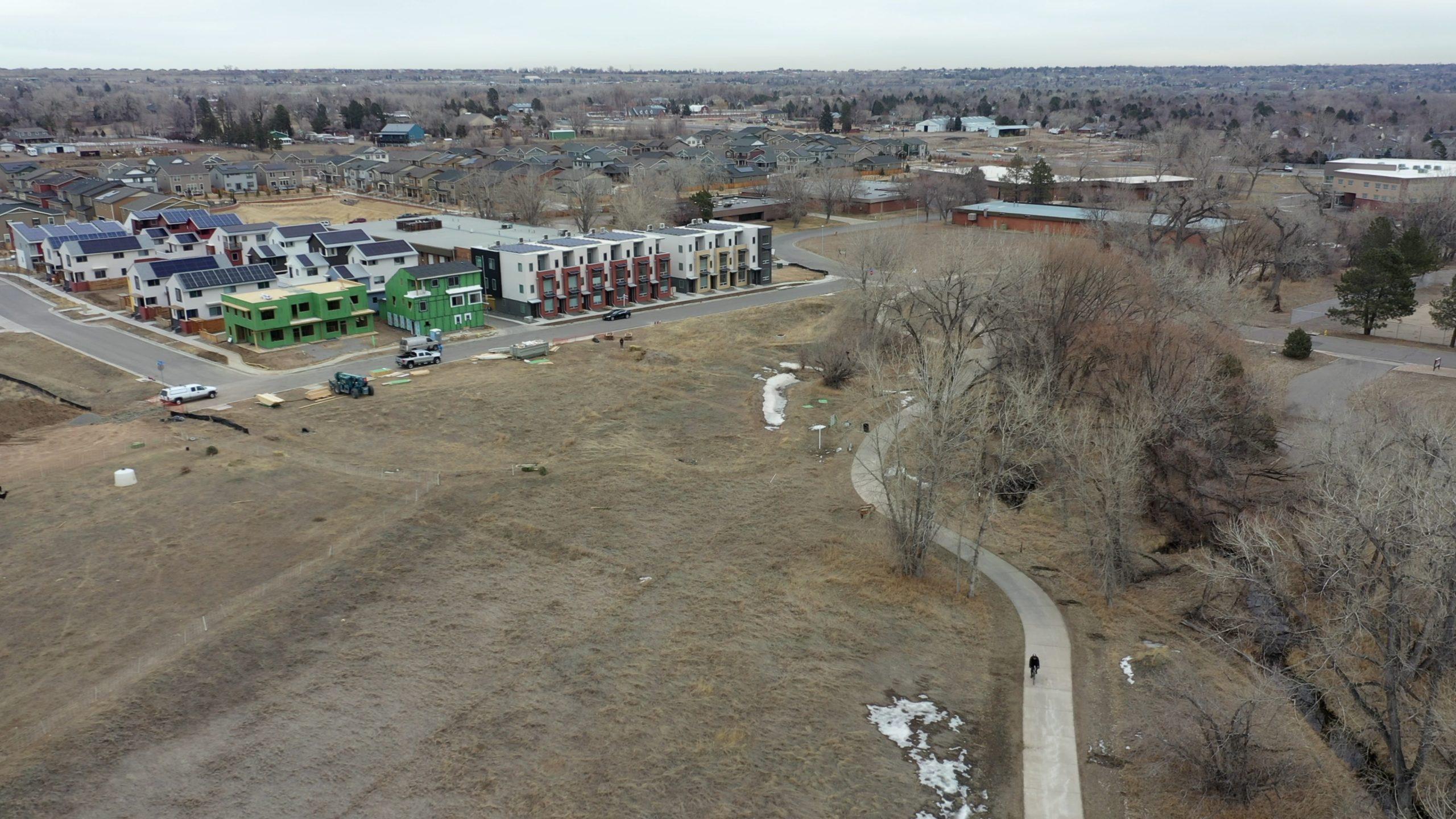 Aerial View of Geos Neighborhood