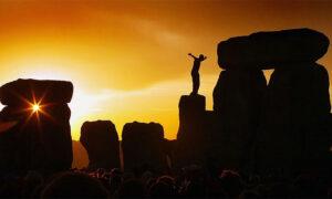 Standing Stones with Summer Solstice Sunlight